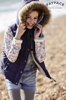 Fat Face Light Navy Abbey Gilet