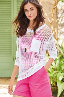 Mesh Pocket Sweater