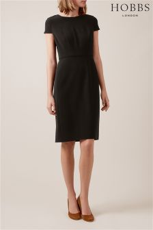 Hobbs Black Celina Sleeved Dress