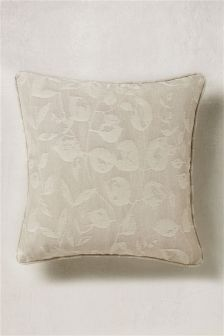 Grey Delicate Leaf Cushion
