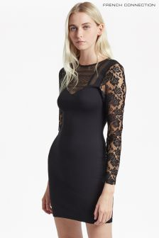 French Connection Black Mia Beau Dress
