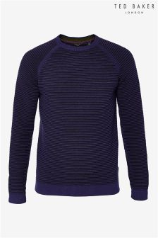 Ted Baker Cashoo Textured Crew Neck Jumper