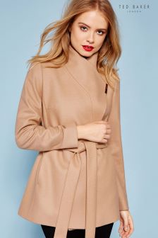 Ted Baker Camel Keyla Short Wrap Coat