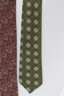 Crest Pattern Tie