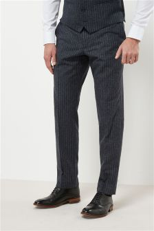 Stripe Nep Slim Fit Suit: Trousers