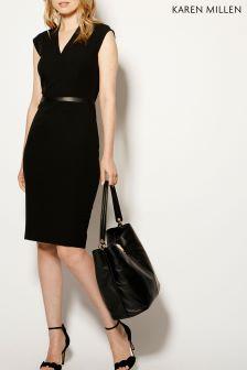 Karen Millen Black Tailoring Collection Dress