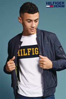 Hilfiger Denim White Basic Branded T-Shirt
