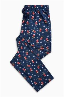 Rudolph Print Cosy Bottoms