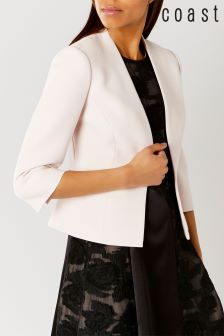 Coast Blush Deandra Short Peplum Jacket