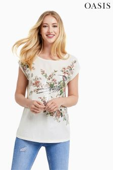 Oasis Ivory Royal Worcester Sequin Front Top