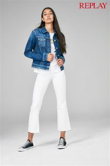 Replay® Boot Cut White Jean