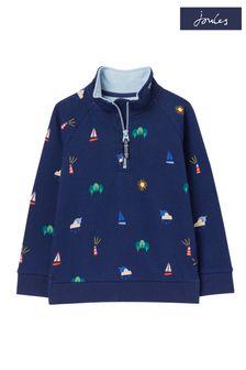 Fat Face Mid Navy Aloa Stripe Fleece