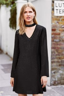 Stud Collar Dress