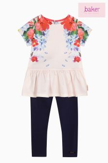 Baker By Ted Baker Place Print Peplum Top With Legging