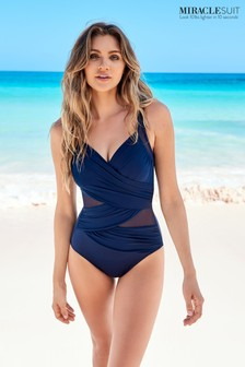 Miraclesuit® Navy Madero Swimsuit