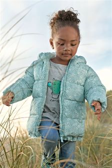 Frill Hem Padded Jacket (3mths-6yrs)