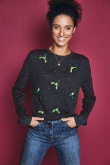 Christmas Mistletoe Jumper