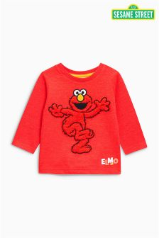 Long Sleeve Fur Sesame Street T-Shirt (3mths-6yrs)