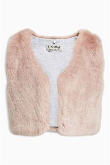 Pink Faux Fur Gilet (12mths-6yrs)