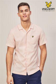 Lyle & Scott Pink Resort Short Sleeve Shirt