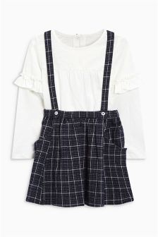 Check Skirt And T-Shirt (3mths-5yrs)