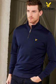 Lyle & Scott Navy Half Zip Jumper