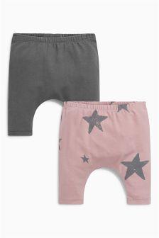 Star Leggings Two Pack (0mths-2yrs)