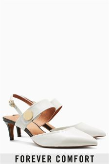 Womens White Shoes | White Leather Court Shoes | Next UK