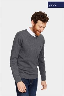 Joules Grey Marl V Neck Retford Jumper