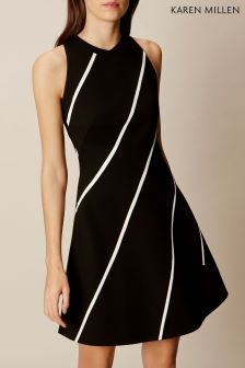 Karen Millen Black/White Ponte Dress