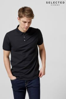 Selected Homme Black Polo