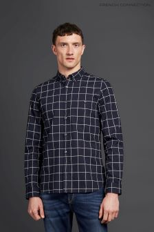 French Connection Navy/Earth Classic Printed Shirt