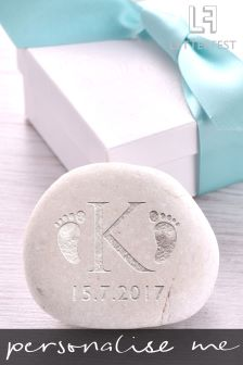 Personalised Birth Celebration Decorative Pebble By Letterfest