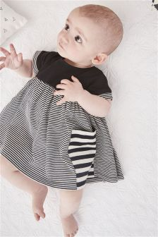 Stripe Pocket Dress (0mths-2yrs)