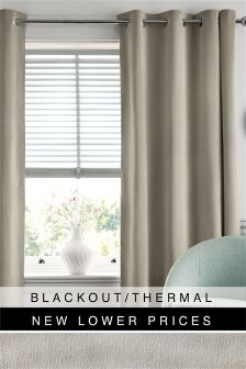 Soft Velour Blackout Eyelet Curtains
