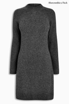 Abercrombie & Fitch Grey Long Sleeve Knit Dress