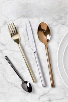 16 Piece Mixed Metallic Cutlery Set