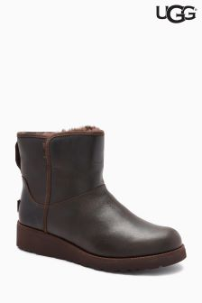 UGG® Brown Stout Leather Kristin Boot