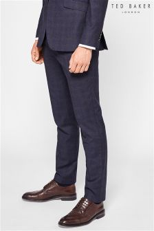 Ted Baker Blue Dahlt Check Suit Trouser