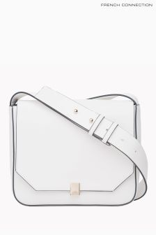 French Connection White Cara Cross Body Bag