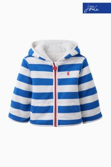 Joules Baby Blue Stripe Reversible Fleece