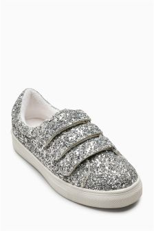Glitter Touch Fastening Trainers (Older)