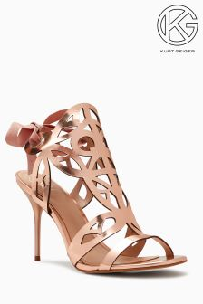 KG Rose Gold Leather Honour Cut Out Sandal