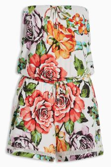 Floral Print Playsuit