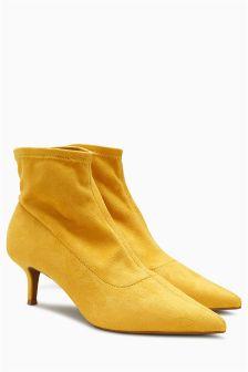 Kitten Heel Sock Boots