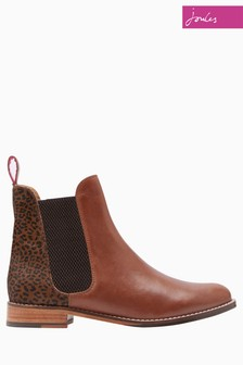 Joules Ocelot Leather Chelsea Boot