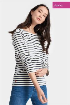 Joules Cream Stripe Harbour Top