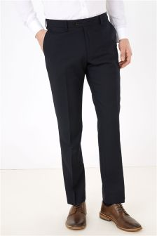 Textured Slim Fit Plain Front Trousers
