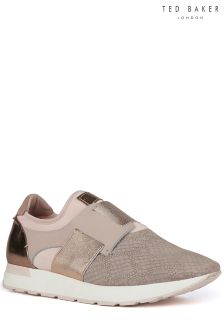 Ted Baker Pink Leather Kygoa Trainer