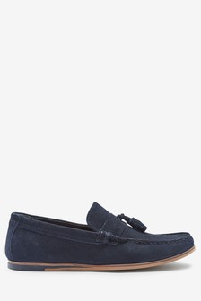 Suede Tassel Loafer